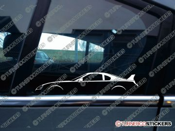 2x JDM sports car Silhouette sticker - Toyota Supra Turbo Mark IV , A80 1992–2002 (with rear wing)
